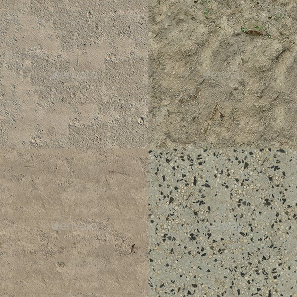 Set of 10 Various Concrete Floor Textures Volume 3