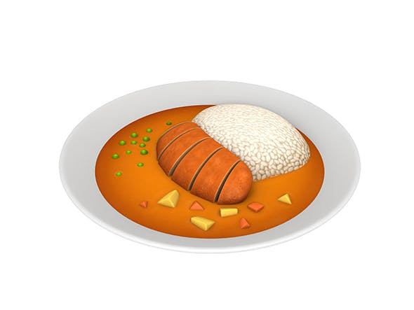 Curry and rice - 3DOcean Item for Sale