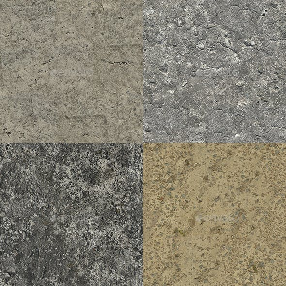 Set of 10 Various Concrete Floor Textures Volume 4