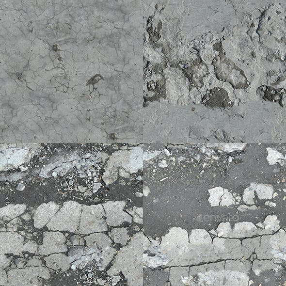 Set of 10 Various Concrete Floor Textures Volume 5