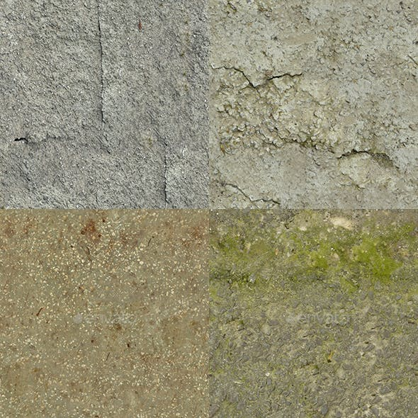 Set of 10 Various Concrete Floor Textures Volume 6