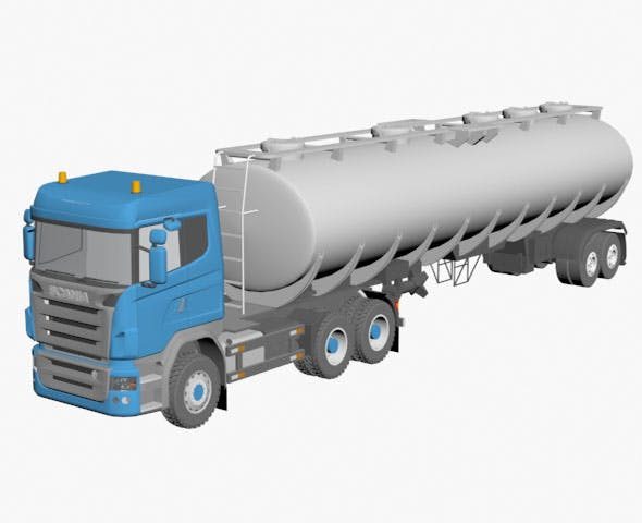 Scania tanker - 3DOcean Item for Sale
