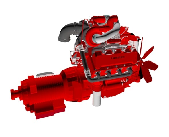 Compact V8 twin turbo - 3DOcean Item for Sale