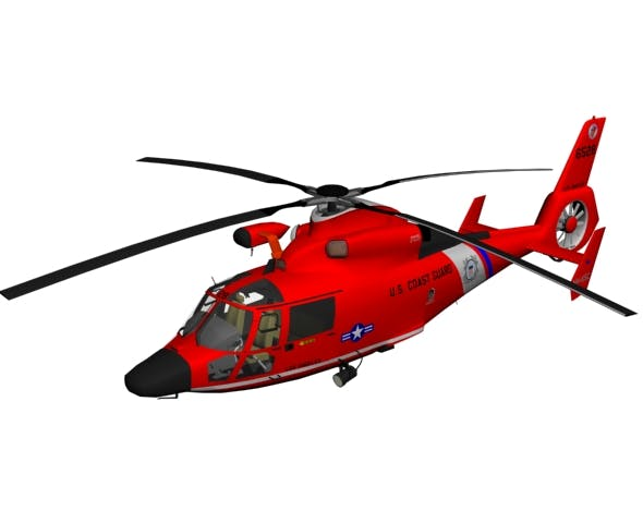 Helicopter hh dolphin - 3DOcean Item for Sale