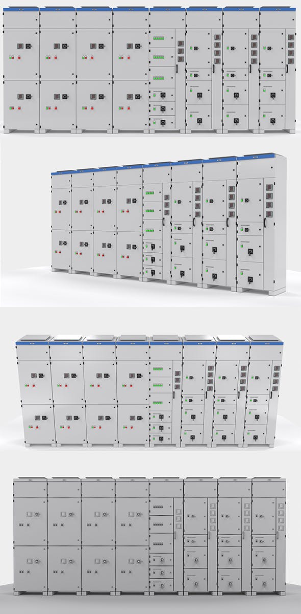 Complete Panels electricity cupboard - 3DOcean Item for Sale