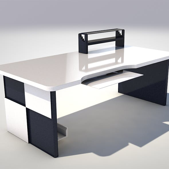 Minimalistic computer desk - 3DOcean Item for Sale