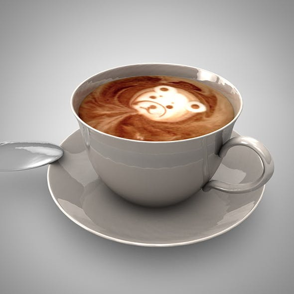 3D Coffee Cup - 3DOcean Item for Sale