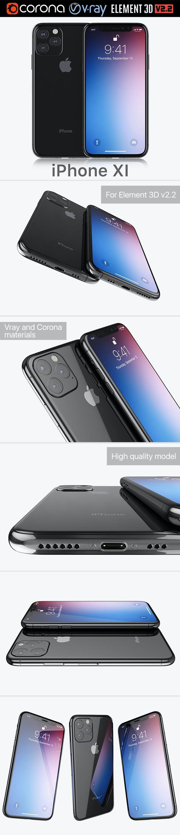 Apple iPhone XI 2019 - 3DOcean Item for Sale