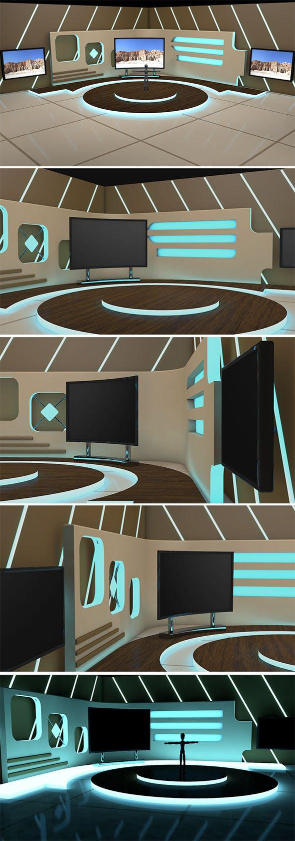 three Screen 3D Studio - 3DOcean Item for Sale