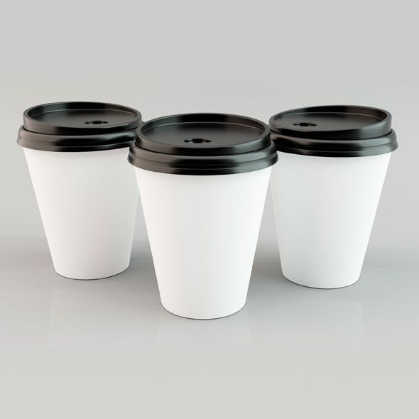 Paper Coffee Cup 05 - 3DOcean Item for Sale