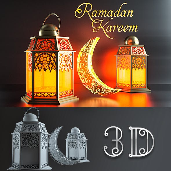 Ramadan Kareem PACK - 3DOcean Item for Sale