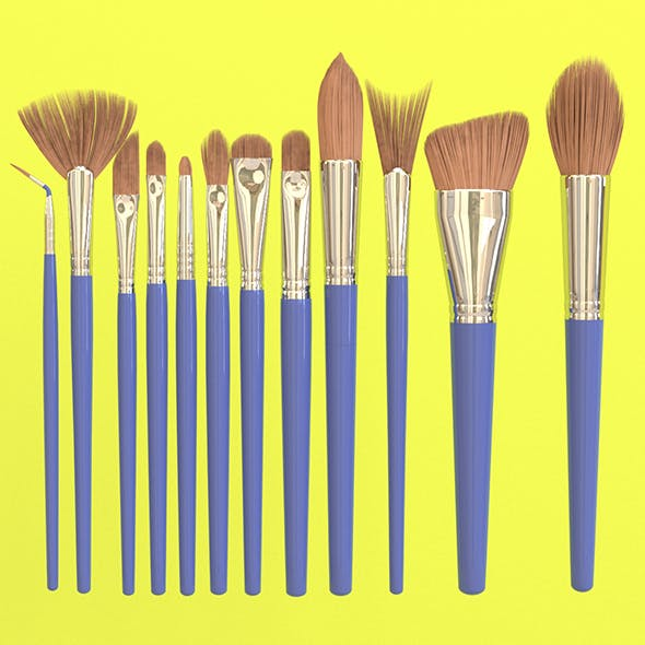 12-Piece-NouVeau-Pro- Brus Set - 3DOcean Item for Sale