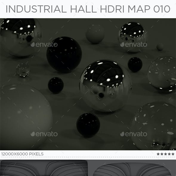 Industrial Hall HDRi Map 010