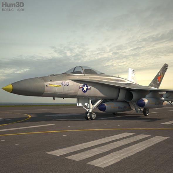 McDonnell Douglas F/A-18 Hornet - 3DOcean Item for Sale