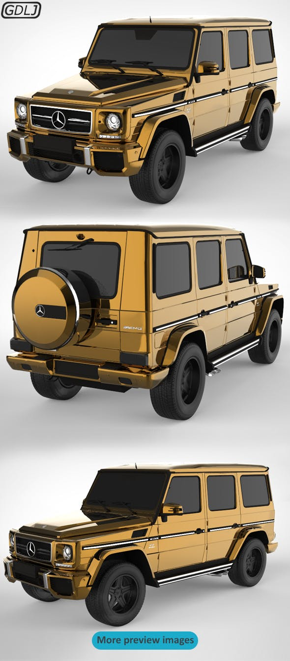 Mercedes-Benz G-Class Golden - 3DOcean Item for Sale