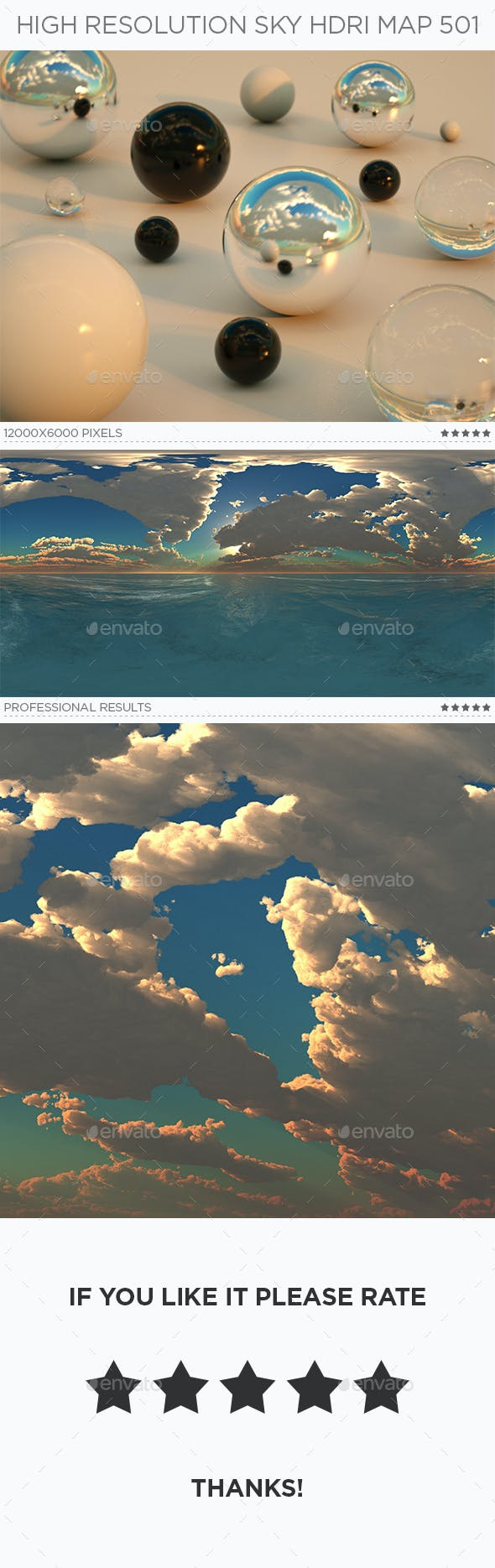 High Resolution Sky HDRi Map 501 - 3DOcean Item for Sale
