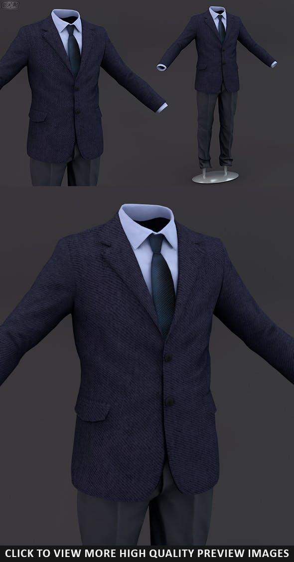 Men suit 13 - 3DOcean Item for Sale