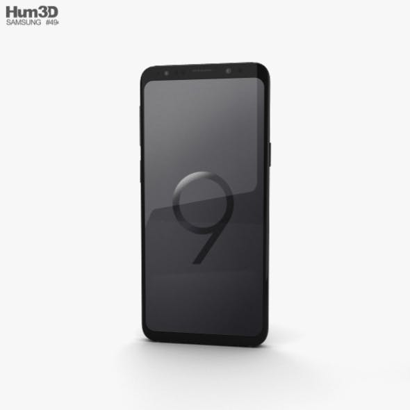 Samsung Galaxy S9 Midnight Black - 3DOcean Item for Sale