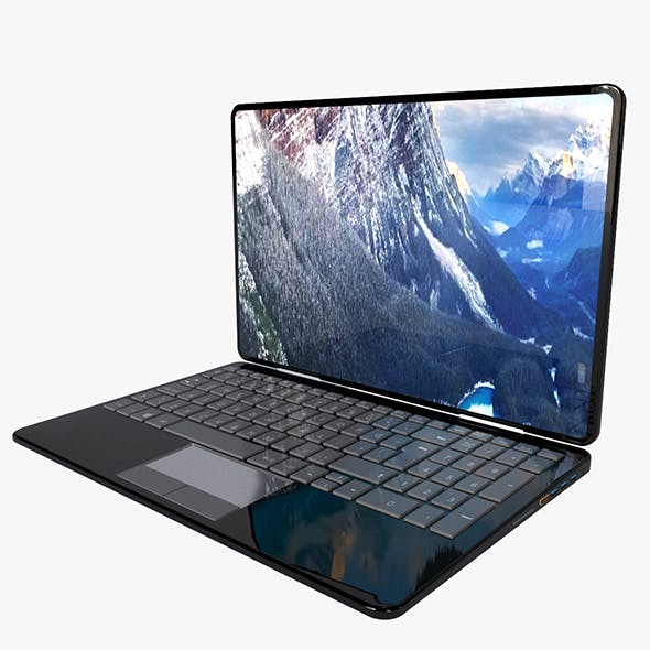 Laptop Model - 3DOcean Item for Sale