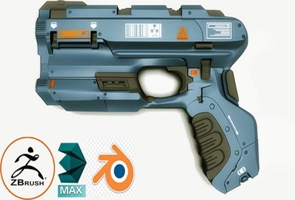 fantastik pistol - 3DOcean Item for Sale