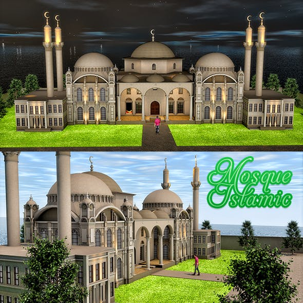 Mosque Islamic - 3DOcean Item for Sale