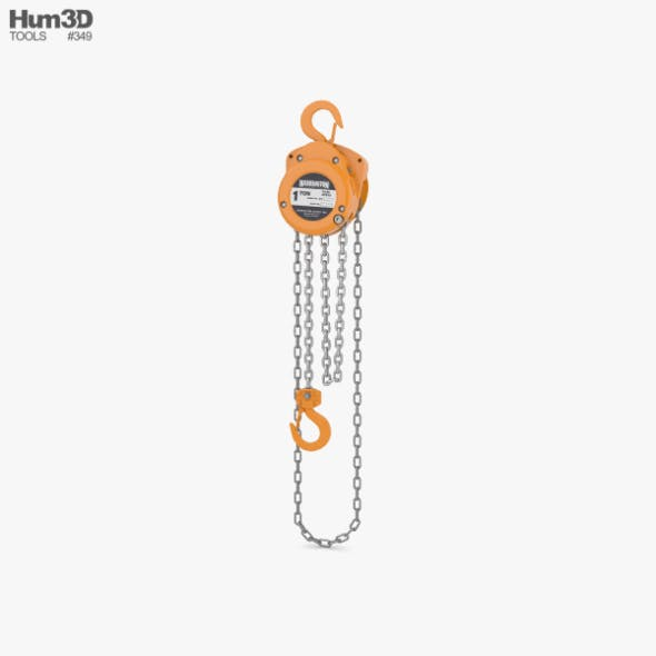 Hand Chain Hoist - 3DOcean Item for Sale