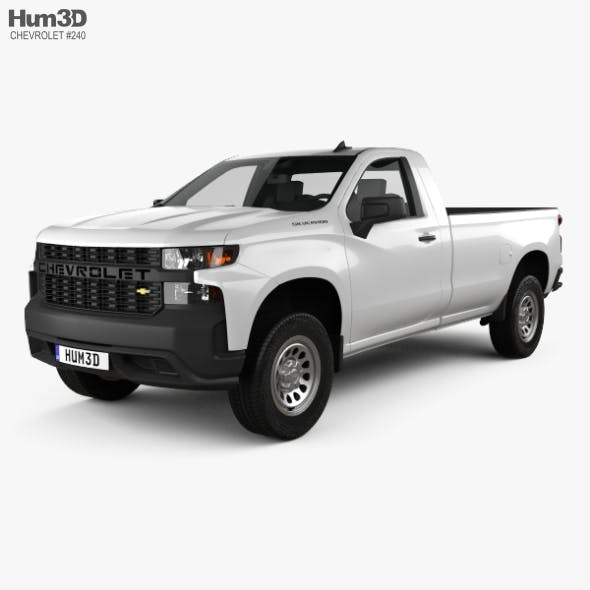 Chevrolet Silverado Regular Cab WT 2018 - 3DOcean Item for Sale