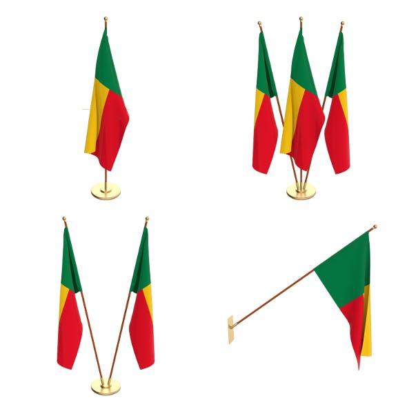 Benin Flag Pack - 3DOcean Item for Sale