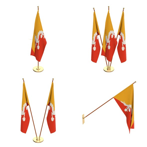 Bhutan Flag Pack - 3DOcean Item for Sale