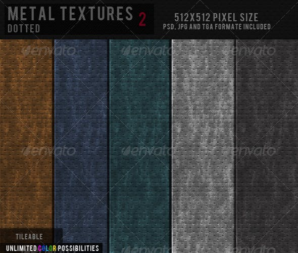 Metal Texture - Dotted - 2 - 3DOcean Item for Sale