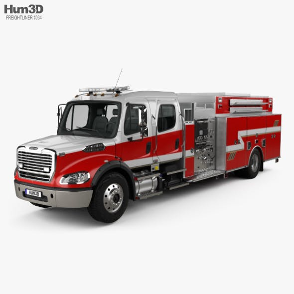 Freightliner M2 106 Crew Cab Fire Truck 2017 - 3DOcean Item for Sale