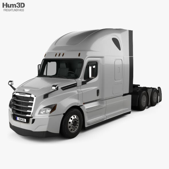 Freightliner Cascadia 126BBC 72 Sleeper Cab Raised Roof AeroX Tractor Truck 2018 - 3DOcean Item for Sale
