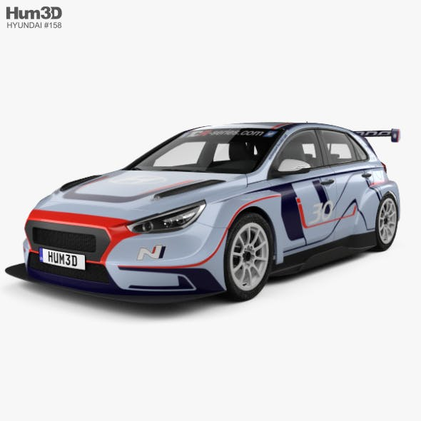 Hyundai i30 N TCR hatchback 2017 - 3DOcean Item for Sale