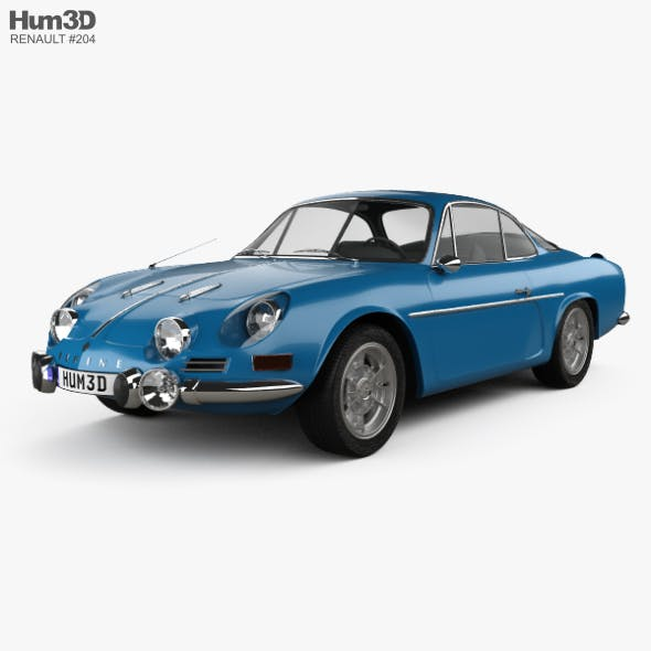 Renault Alpine A110 1600S 1972 - 3DOcean Item for Sale