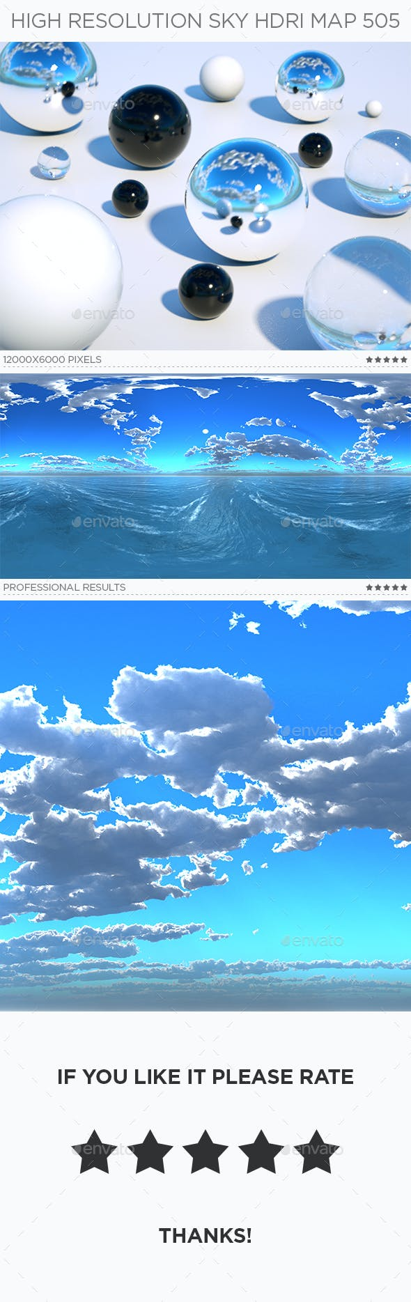 High Resolution Sky HDRi Map 505 - 3DOcean Item for Sale