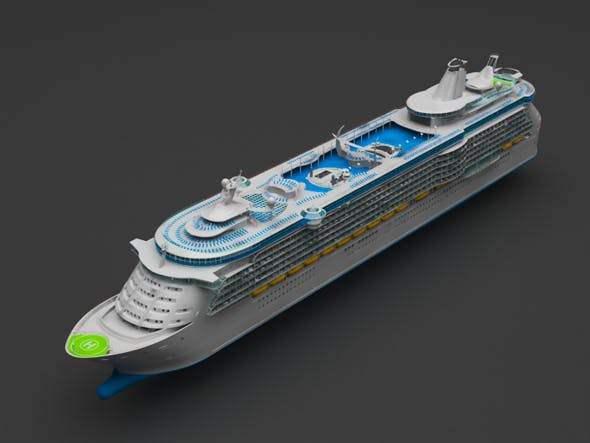 Cruiser ship - 3DOcean Item for Sale