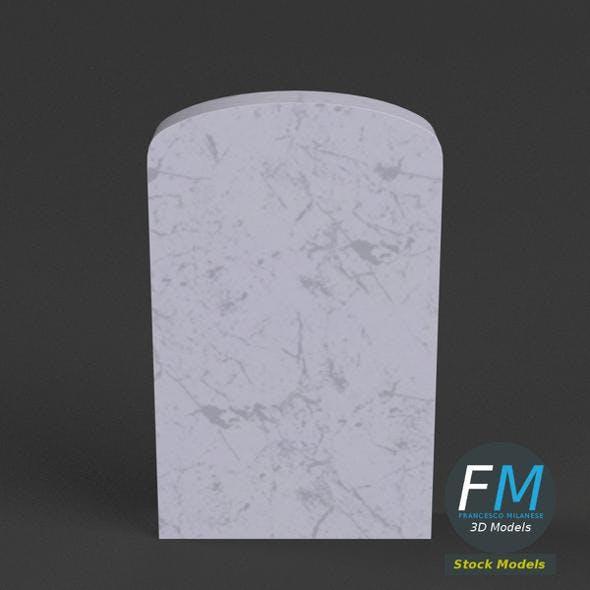War memorial gravestone - blank - 3DOcean Item for Sale