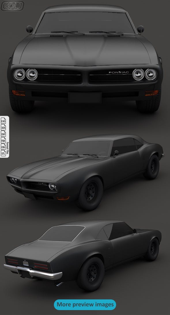 Pontiac Firebird V2 Matte black - 3DOcean Item for Sale