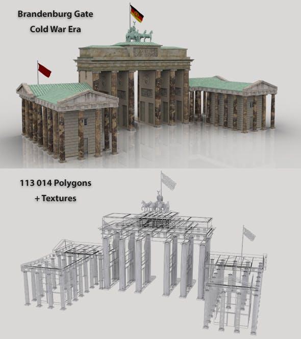 Brandenburg Gate 3D Model - 3DOcean Item for Sale