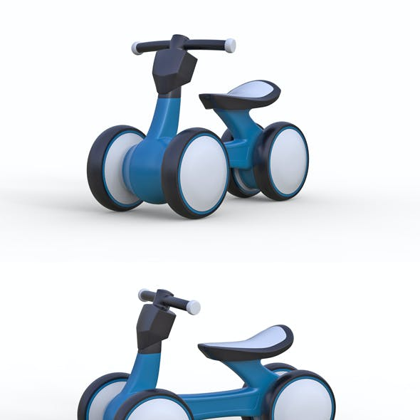 Childrens mini four wheel bicycle