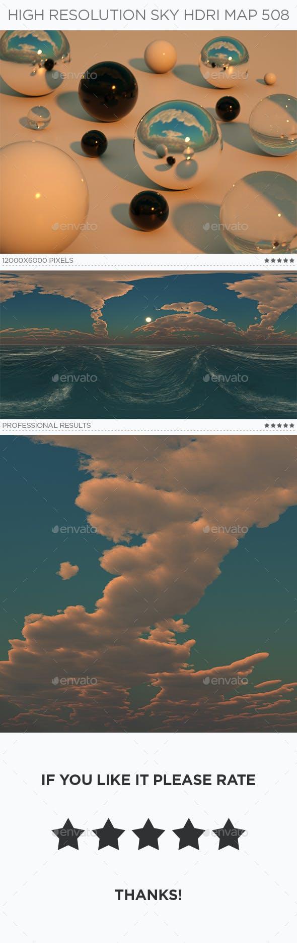 High Resolution Sky HDRi Map 508 - 3DOcean Item for Sale