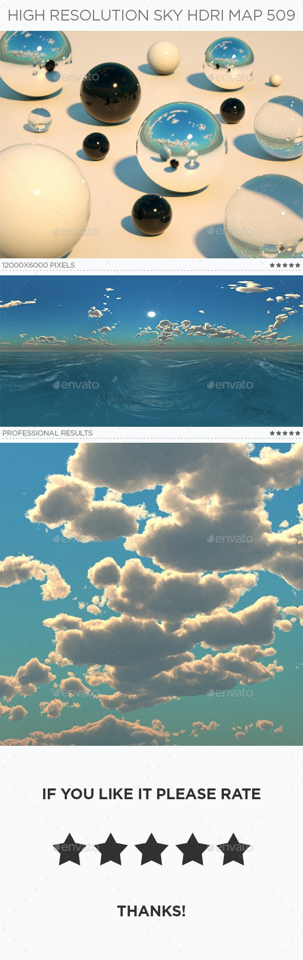High Resolution Sky HDRi Map 509 - 3DOcean Item for Sale