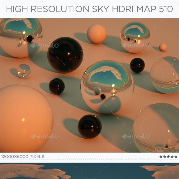 High Resolution Sky HDRi Map 510