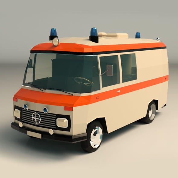 Low Poly Ambulance 01
