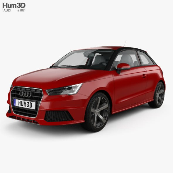 Audi A1 3-door with HQ interior 2015 - 3DOcean Item for Sale