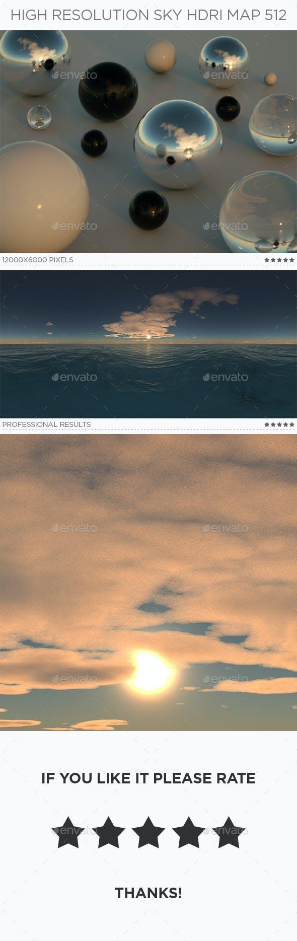 High Resolution Sky HDRi Map 512 - 3DOcean Item for Sale