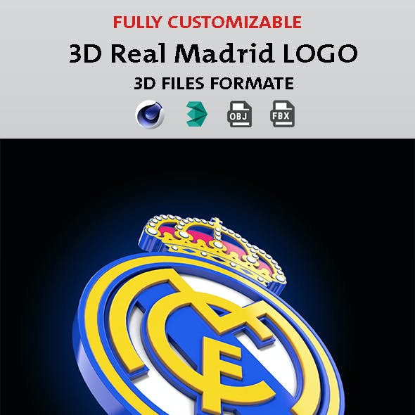 3d Real Madrid Logo