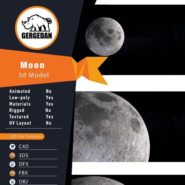 Realistic 8k Moon