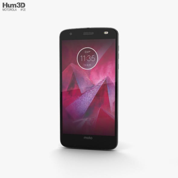 Motorola Moto Z2 Force Super Black - 3DOcean Item for Sale