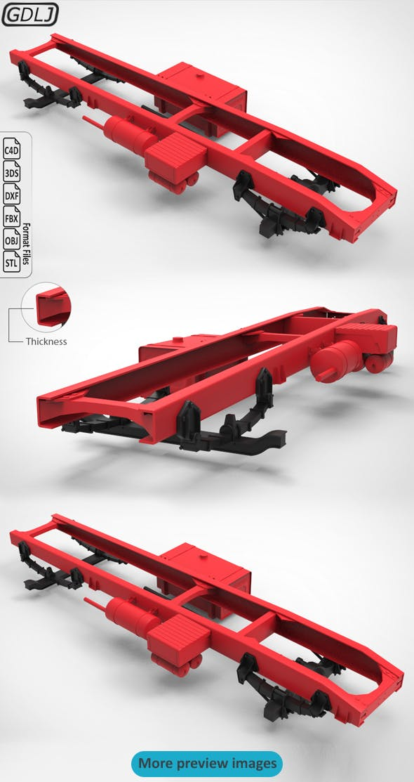 Chassis Truck - 3DOcean Item for Sale